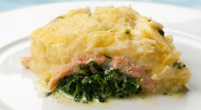 Lachs-Spinat-Kartoffeln