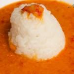 Reis mit Paprika-Kichererbsen-Soße
