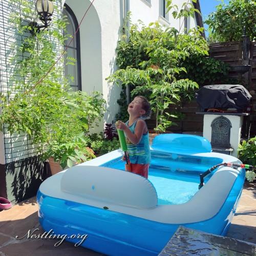 Pool-Sommer-Kinder